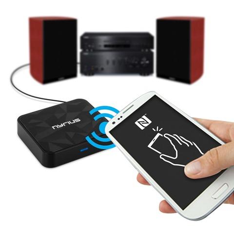Nyrius-Songo-Tap-Wireless-Bluetooth-Music-Receiver-apt-X-NFC