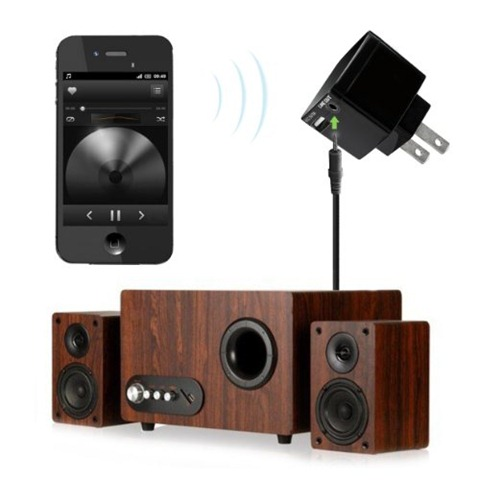 Stereo bluetooth adapter audio receiver for home stereo speaker
