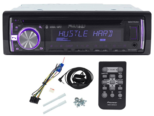 pioneer bluetooth car stereo. pioneer dehx6600bt in-dash cd/mp3/usb car stereo receiver with a2dp bluetooth, pandora link, mixtrax, ipod support and aux bluetooth