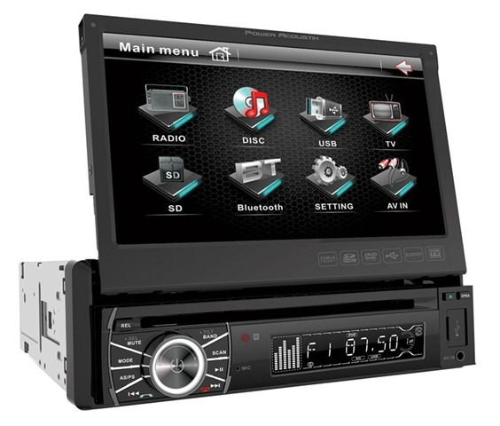 Car stereo flip out screen