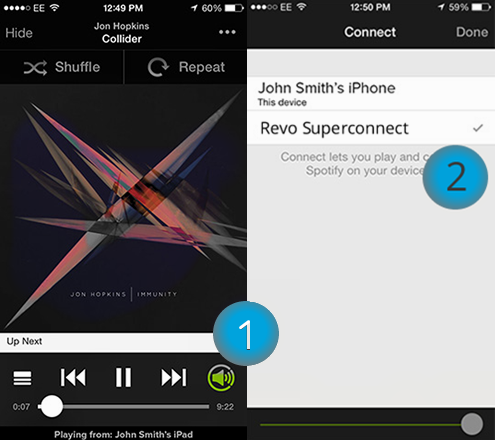 how to play spotify through speakers